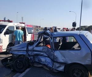 Two taxis and car collide leaving one dead, two injured