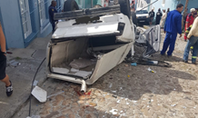 Bakkie rollover leaves seven injured at the Morris and Long Market intersection in Bo-Kaap