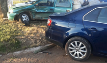 Two injured in a two-vehicle collision in Carletonville
