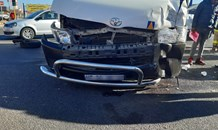 Taxi and car collide leaving four injured in Centurion