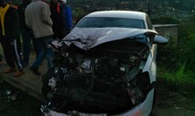 Seven injured when taxi and car collide Copesville