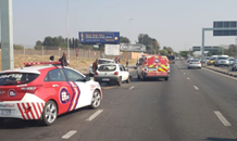 Car rear-ends taxi leaving three injured in Fourways