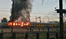 Lucky escape for passengers after two train carriages burn in Germiston