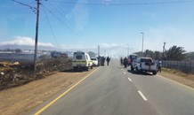 Multiple-vehicle collision leaves sixteen injured on the Schaapkraal Road in Grassy Park in the Western Cape.