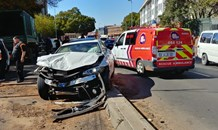 Four-vehicle collision leaves three injured at the Louis Botha and Houghton Road intersection in Houghton, Johannesburg.