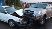 Bakkie and car collide leaving four injured in Imbali