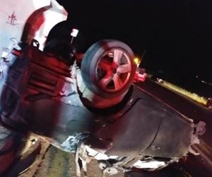Vehicle rollover leaves two dead on the R512 in Lanseria