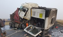 Two trucks and three vehicles collide leaving two dead, two injured on the N17