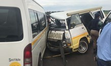 Two taxis collide leaving ten injured on the R28 between Westonaria and Poortjie