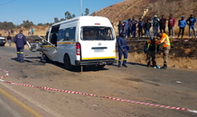 A Taxi and bakkie collided leaving two dead, thirteen others injured on the Elias Motsoaledi Road in Soweto