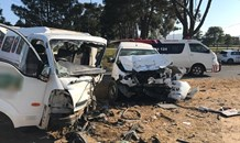 Head-on collision leaves fourteen injured on the Dassenberg road in Atlantis