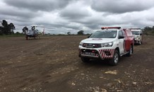 Child airlifted to hospital following non-fatal drowning.