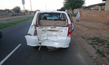 Four injured in a collision on Eiselen Road in Daveyton