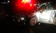 Two cars collide leaving five injured on the N1 near the Kroonvaal Plaza