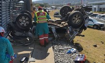 Two killed, five injured in a multiple vehicle and truck collision in Nelspruit