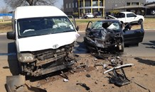 Taxi and car collide leaving four injured in Vereeniging