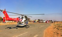 Critically injured pedestrian airlifted to hospital, Randfontein