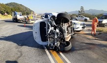 One injured in rollover in Nelspruit
