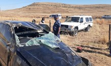 One vehicle collision on the R712 near Harrismith