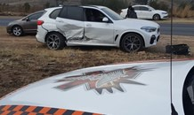 Two injured following a collision in Valkfontein