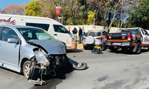 Two injured in Bryanston collision