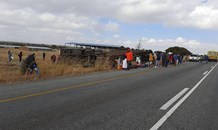 N1 North of Polokwane will be closed temporarily due to serious vehicle collision