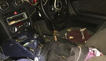 Armed robbers flip vehicle in high speed chase in Tongaat - KZN
