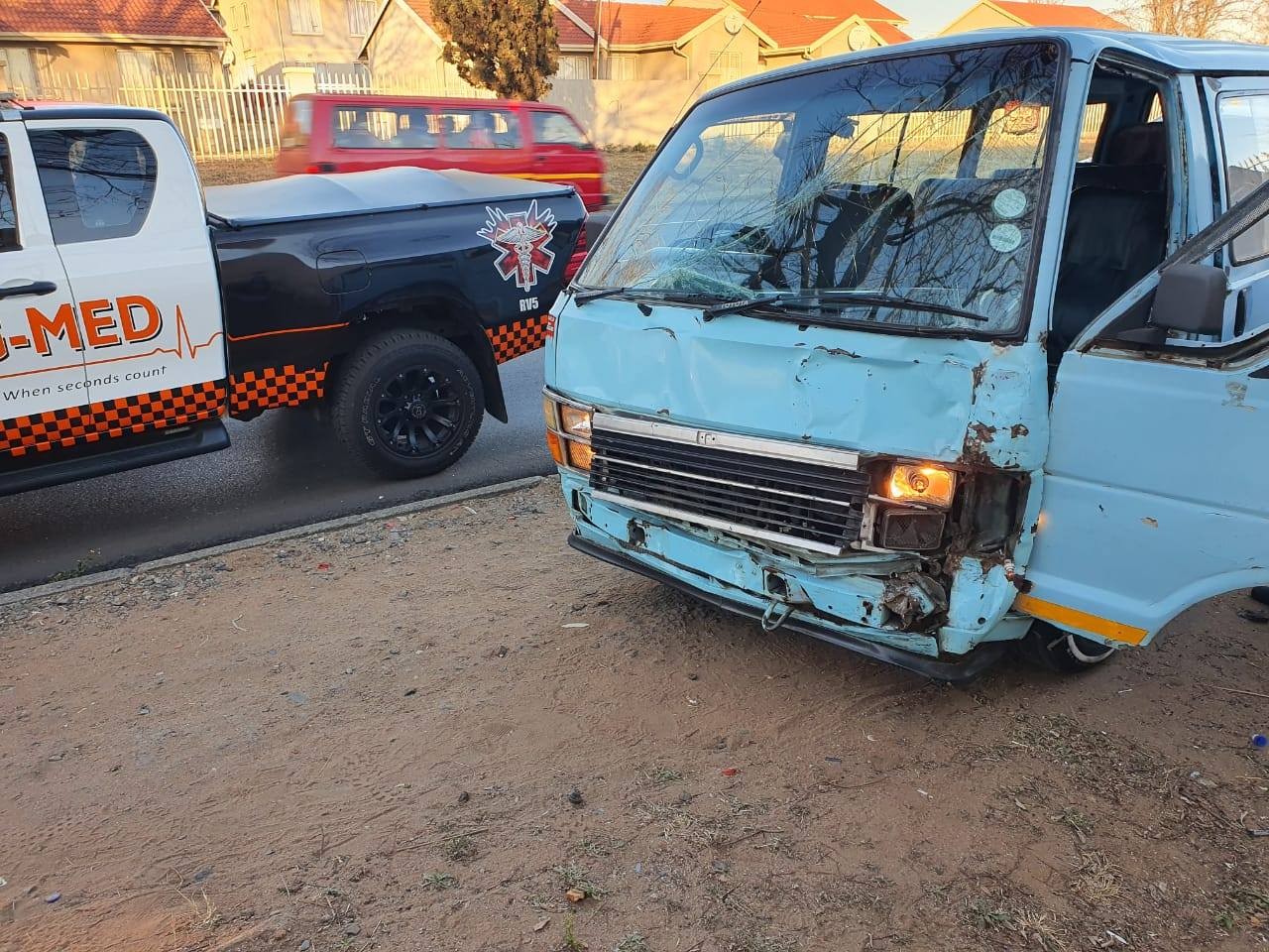 Multiple injured in a taxi collision in Germiston