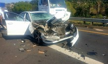 Serious multiple vehicle collision on the N2