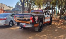Emer-G-Med responded to the Coen Scholtz community Center for a building that was on fire