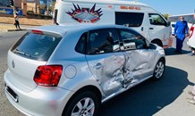 Three injured in Randburg collision