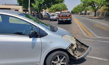 Two-vehicle collision in Kempton Park