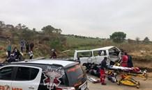 One dead, eighteen injured in a mass casaulty crash in Northriding