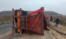 Two injured in a truck rollover on the R74 Little Switzerland Road