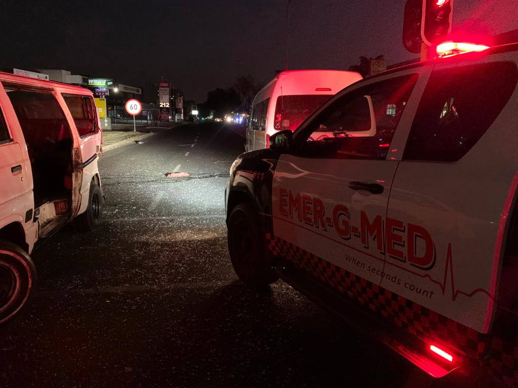 Two injured in a collision between two taxis in Randburg