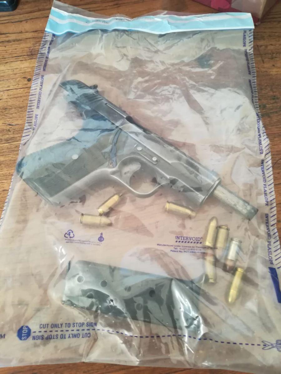 Three firearms seized, four men in custody