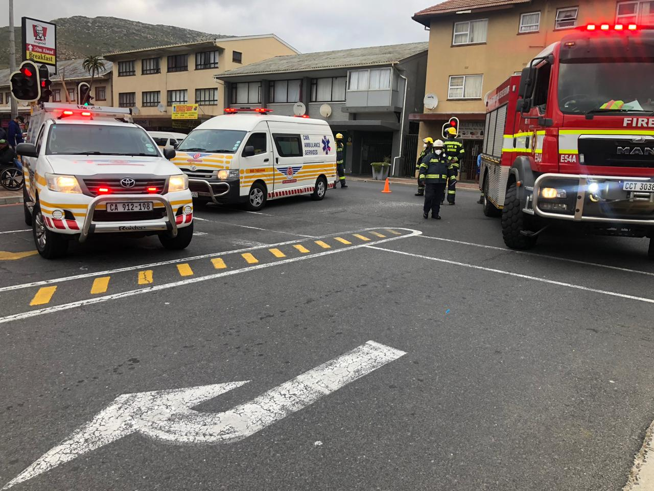 Cyclist injured in a collision with a taxi in Fish Hoek