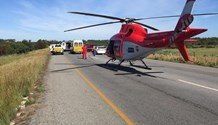 Female crash victim airlifted after horror road crash on the N7