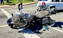 One injured in a motorcycle collision in Malboro Gardens