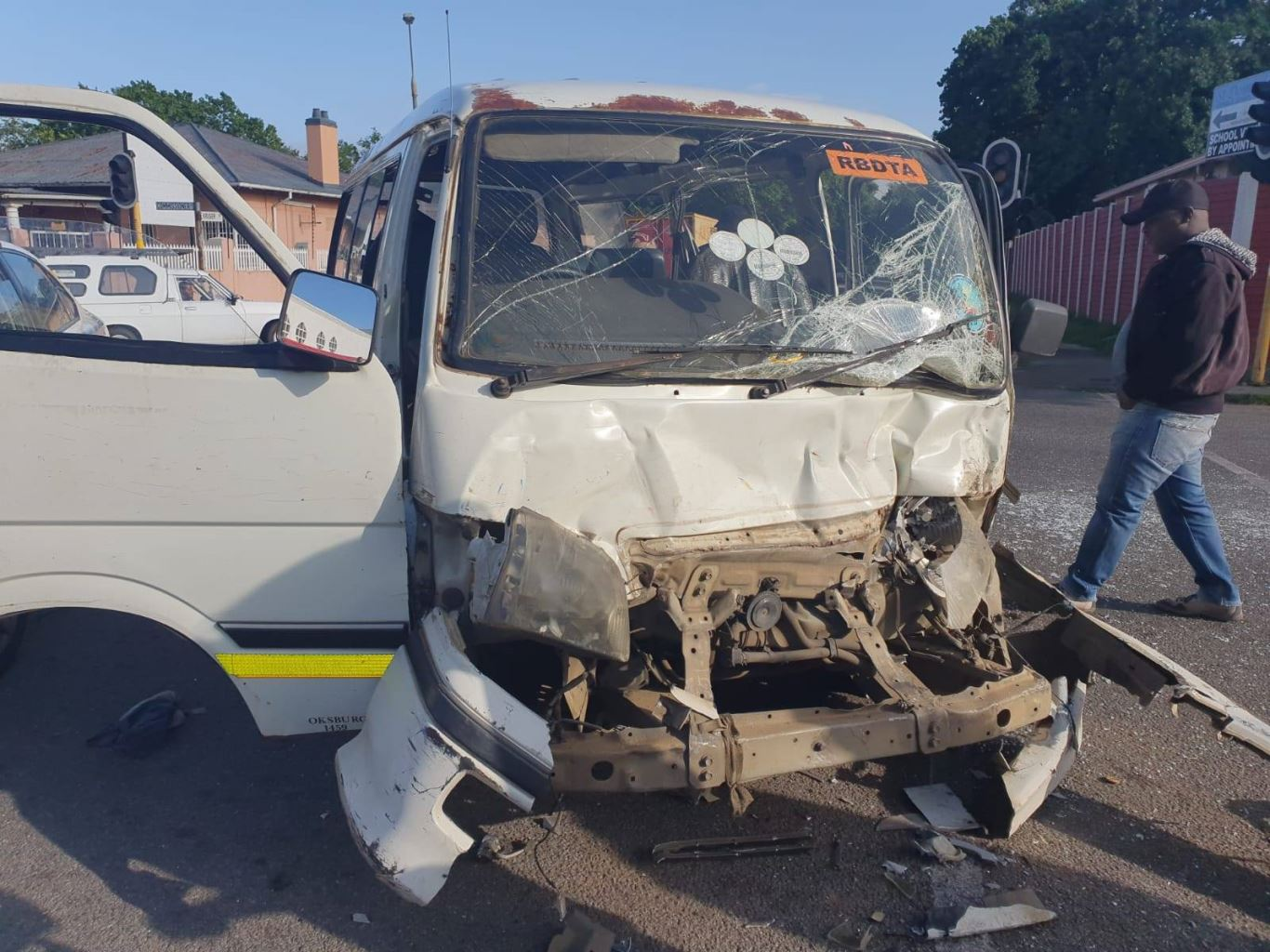 Multiple injured in a taxi collision in Boksburg