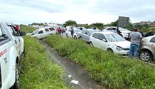 Three injured in a six vehicle pile up on the R102