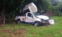 Driver lost control and collided with a wall in Pretoria