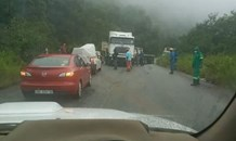 Truck jackknifing causing delays on the R528, George's Valley