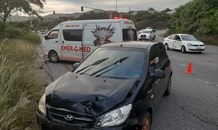 Mom and toddler injured in a collision at an intersection in Nelspruit