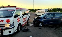 Seven people injured in a taxi collision on Booth Road
