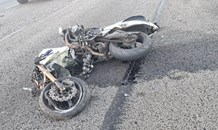 Motorcyclist airlifted to hospital, passenger serious injured in a collision on the R21