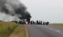 Gilead road on the R567 is closed due to protests