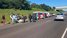 Vehicle rollover on the R102 in Verulam