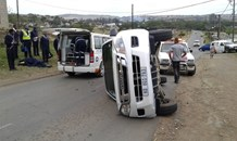Vehicle Overturns at Parkgate, KwaZulu Natal