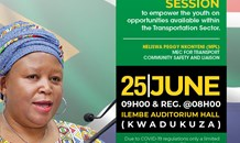 KZN Transport MEC Nkonyeni to engage young people on economic and employment opportunities within the transportation sector